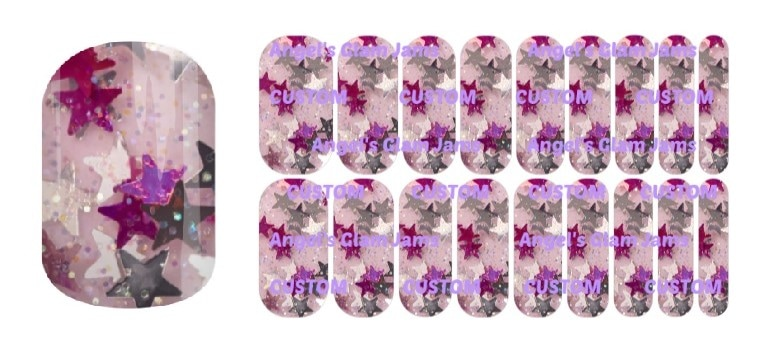 Star Sparkle Jamberry Nail Wraps by Angel's Glam Jams