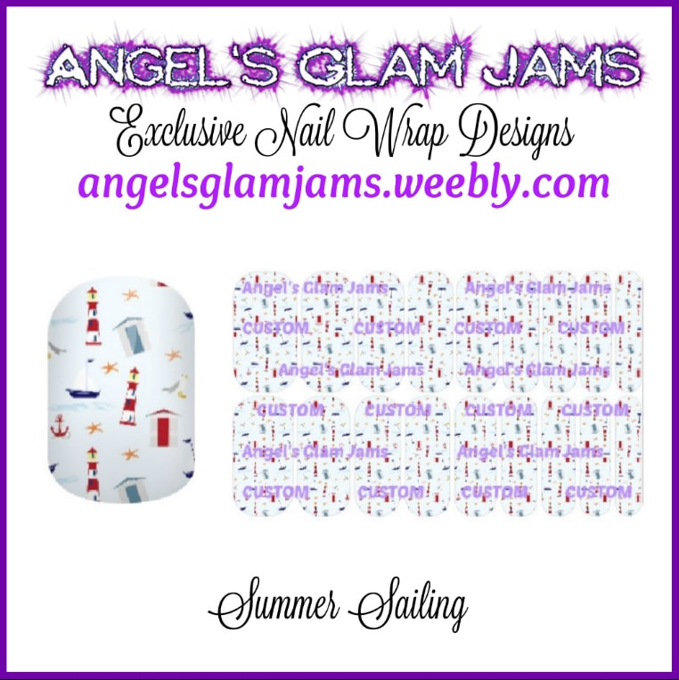 Summer Sailing Jamberry Nail Wraps