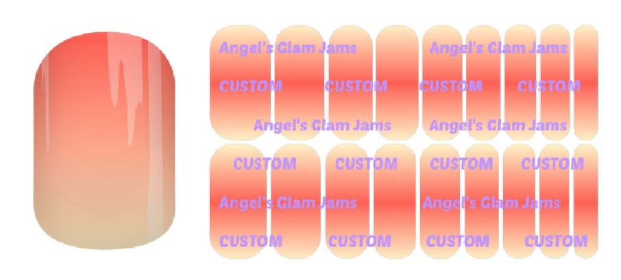 Sunset Orange Cream Ombre Jamberry Nail Wraps by Angel's Glam Jams