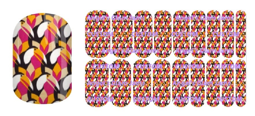 Tropical Toucan Jamberry Nail Wraps by Angel's Glam Jams