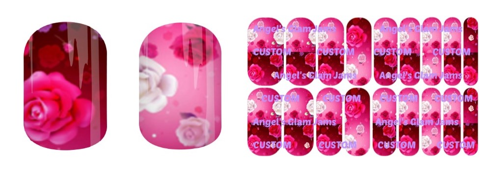 Valentine Dream Jamberry Nail Wraps by Angel's Glam Jams